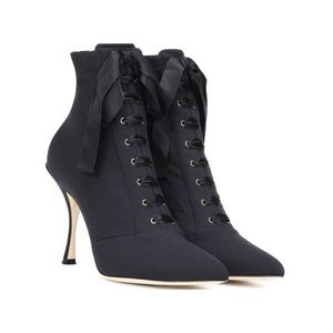 DOLCE & GABBANA LACED-UP ANKLE BOOTS